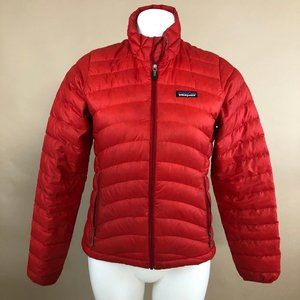 Patagonia Down Sweater Jacket in Red XS
